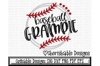 Baseball Grampie Cutting File