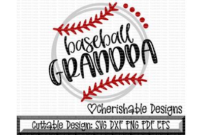 Baseball Grandpa Cutting File