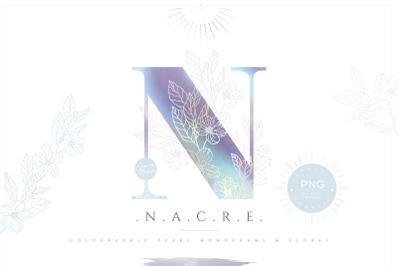 NACRE Monograms & Floral