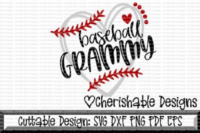 Baseball Grammy Heart Cutting File