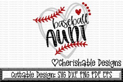 Baseball Aunt Heart Cutting File