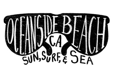 Oceanside California Beach Label