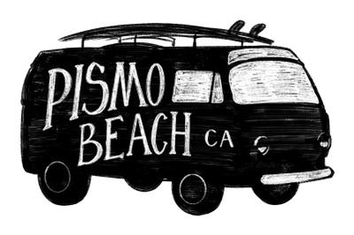 Pismo Beach California Label