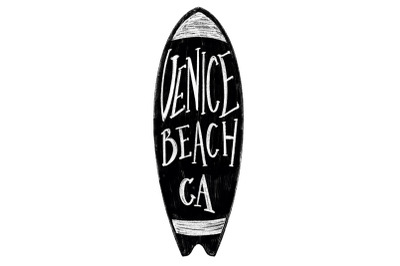 Venice Beach California Label