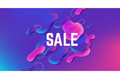 Fluid sale background. Abstract gradient shape design&2C; modern dynamic