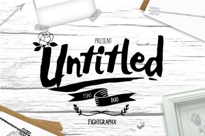 Untitled font duo + extras