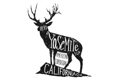 Yosemite Deer Label