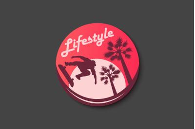 Skateboarding Sticker