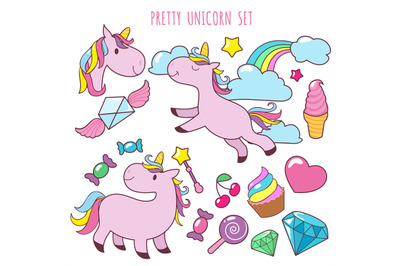 Rainbow Unicorn On All Category Thehungryjpeg Com