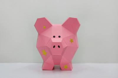 DIY Piggy Bank - 3d papercraft