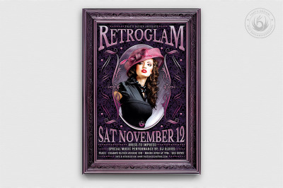 Retro Glam Flyer Template V3