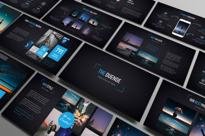 Duende Dark Powerpoint Template