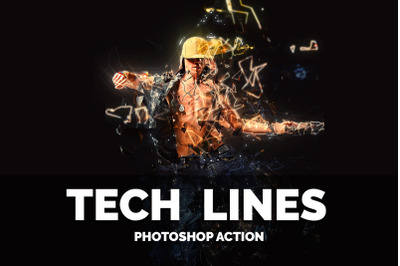 Tech Lines Photoshop Action