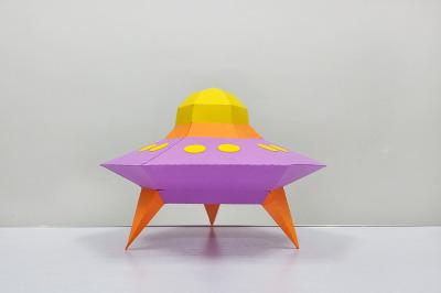 DIY Alien space ship, UFO - 3d papercraft