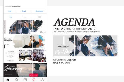 Agenda Insta Grid (Triple Posts)