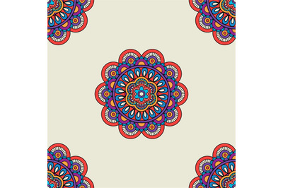 Ethnic motif colored seamless background