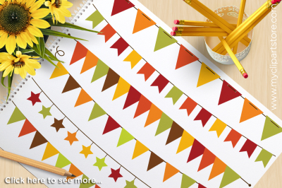 Autumn / Fall Bunting Vector Clipart