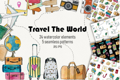 Travel The World Watercolor Set