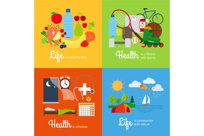Healthy lifestyle elements