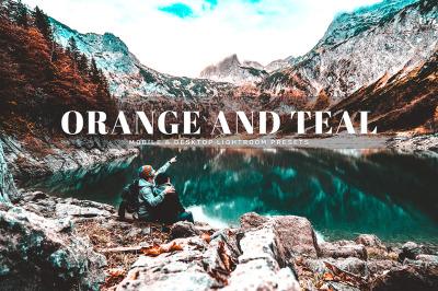 Orange And Teal Mobile & Desktop Lightroom Presets