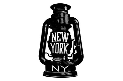 New York Lantern Graphic