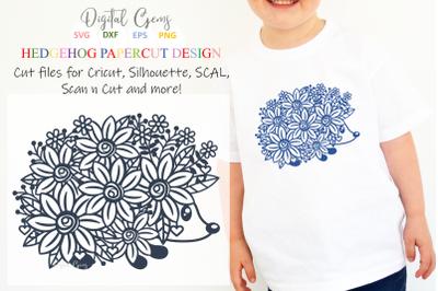 Hedgehog paper cut design