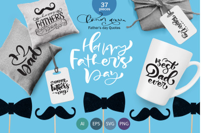 Father`s Day vector SVG greeting quotes
