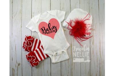 Fancy Baby Girl, White Blank Bodysuit Mockup, Infant One Piece Photo