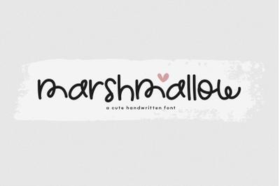 Marshmallow - A Cute Handwritten Font