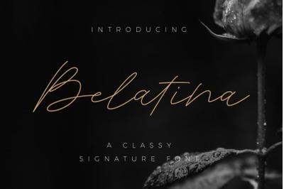 Belatina - A Classic Signature Font