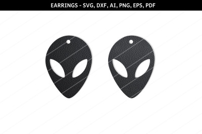 Alien Earrings svg,UFO earrings,Sci fi earrings,alien svg,alien face