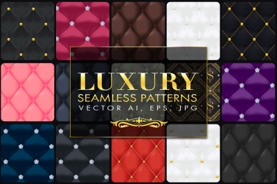 15 Luxury Quilted Seamless Vector Patterns