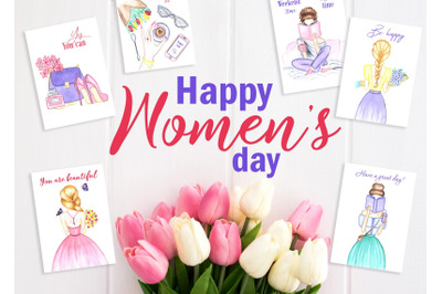 Women's day Card. 8 March
