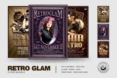 Retro Glam Flyer Bundle