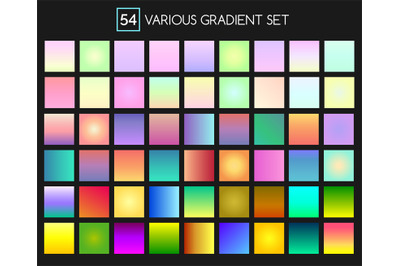 Multicolor gradient backgrounds
