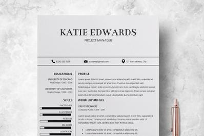 Teacher Resume Template / CV Template Word - Katie