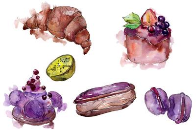 Dessert Brown Watercolor png