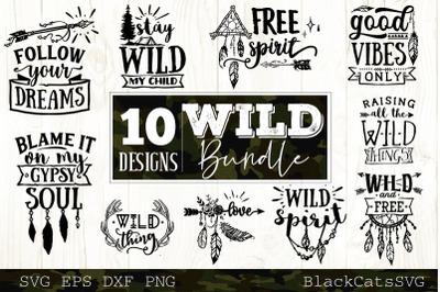 Wild bundle SVG  10 designs vol 2 Wild and boho SVG bundle
