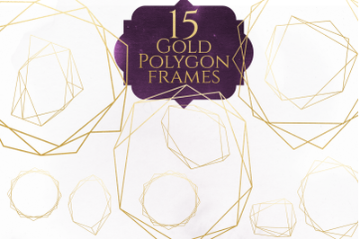 Gold Polygon Frames