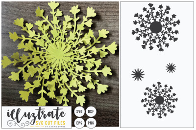 Layered Flower Cutting File - Paper Cut Flower - SVG Cut File