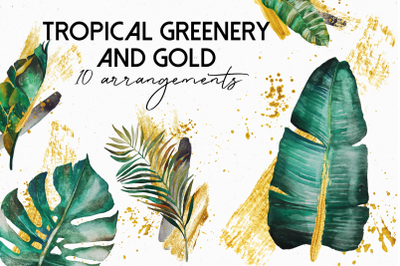 Tropical Greenery and Gold