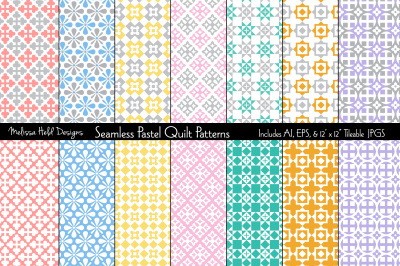 Seamless Pastel Quilt Patterns