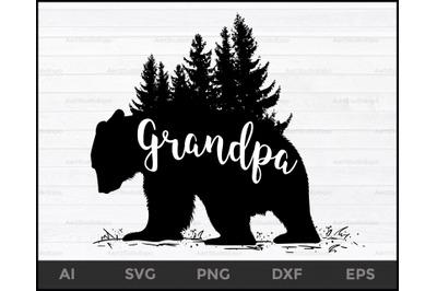 Grandpa bear svg files, Grandpa bear svg, Bear svg, Grandpa svg, files