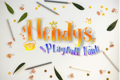 Hendys Playfull Font