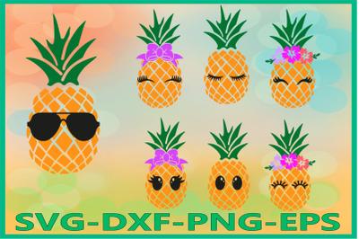 Pineapple Face Svg, Pineapples Svg, Pineapple Svg, Summer