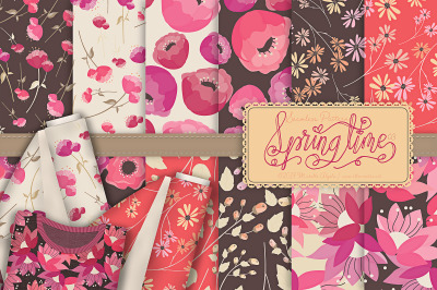 Springtime 03 - Seamless Pattern Designs and Digital Papers