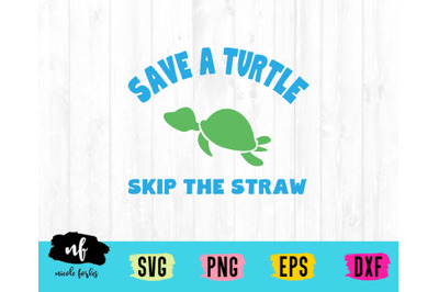 Save Turtles Earth Day SVG Cut File