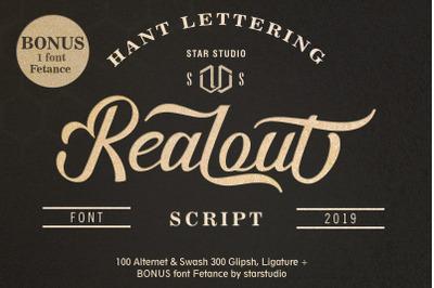 Realout Script Font + BONUS