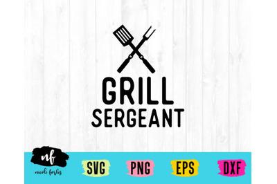 Grill Sergeant SVG Cut File