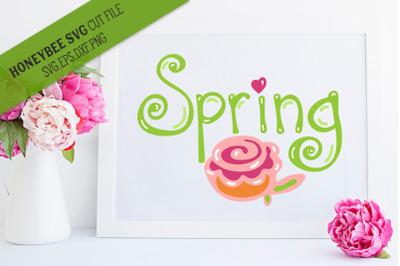 Spring Hand SVG Cut File